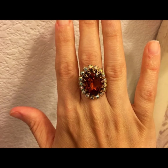 Jewelry - Vintage adjustable amber color ring